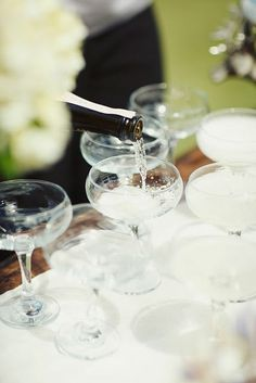 champagne coupes  love these glasses but can't find them anywhere.