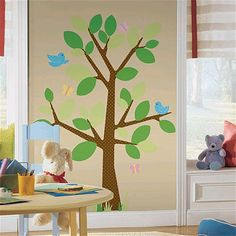 """RoomMates Dotted Tree Peel & Stick Giant Wall Decals - York Wall Coverings - Toys """"R"""" Us"""