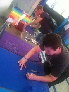 Creating FEARLESS LGBT flags at LA PRIDE's Momentum Pavillion