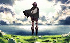 Scarica sfondi Eren Yeager, manga, Scout Reggimento, protagonista, in Attacco su Titano