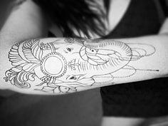 Elephant Tattoo .. Work in Progress