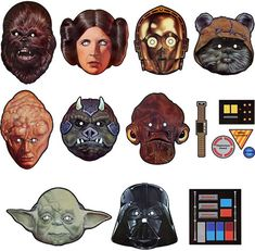 Star wars printable masks. We loved them on our special Star Wars movie night.