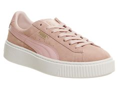 3ed28b1d243 Puma Suede Platforms Coral Pink - Hers trainers