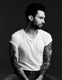 """Adam Levine. *I typically don't like a tattoed man.. BUT he is the exception along with a """"select"""" few others. haha."""