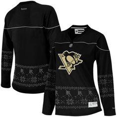 Reebok Pittsburgh Penguins Women s Fair Isle V-Neck Fashion Jersey - Black   Fanatics ® daf798b9f