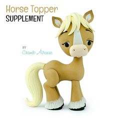 Learn how to make this adorable Donkey Topper! You can use the templates provided to make any other horse-like cake topper! The tutorial contains: - 96 high-quality PHOTOS with clear and easy-to-follow INSTRUCTIONS - TEMPLATES for ALL body parts –-> they will be your size and shape