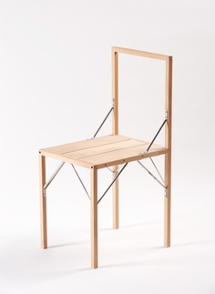 Lajt Chair by Janez Suhadolc/가구 Portable Tiny Houses, Home Furniture, Furniture Design, Stool Chair, Wood Design, Interior Design Kitchen, Chair Design, Decoration, Small Spaces