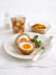 Scotch Eggs recipe from Women's Institute (UK CWA) Pie Recipes, Dinner Recipes, Cooking Recipes, Diabetic Pie Recipe, Scotch Eggs Recipe, Cake Stall, Deli Counter, Bbq Ideas