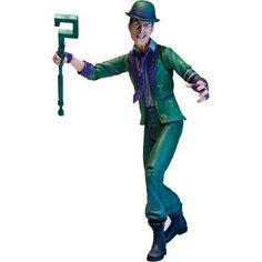 Batman - Arkham City Series II The Riddler. DC Direct Batman: Arkham City Series The Riddler Action Figure. Batman Arkham City, Gotham City, The Riddler, Kid Connection Toys, Dc Comics Action Figures, Hit Games, Living Dead Dolls, Batman Universe, Toys
