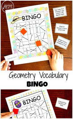 How about a fun way to learn geometry terms? Use this FREE Geometry Bingo to Work on Lines, Rays, Parallel Lines and more from You've Got This! :: www.thriftyhomeschoolers.com