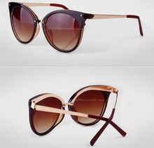 New 2015 fashion Cat Eye Sunglasses women vintage eyewear Metal Legs Brand Designer retro sun glasses Oculos De Sol Feminino(China (Mainland))