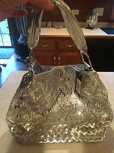 Silver Purse With Bling/rhinestones.. Comes With Matching Smaller Purse