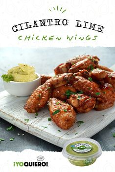 Chicken Wing Sauces, Chicken Wing Recipes, Chicken Wings, Fresh Avocado, Cilantro Lime Chicken, Dinner Entrees, Cooking Recipes, Healthy Recipes, Game Night