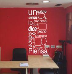 Vinilo decorativo texto un sabio... #vinilo #vinilodecorativo #vinilodecorativotextounsabio... #devinilos #devinilosvinilotextounsabio...