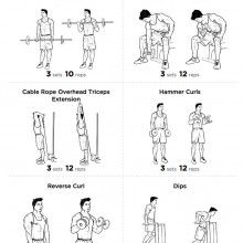 BIG ARM Bicep and Tricep Workout Routine