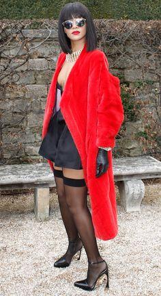 Rihanna rocks a risqué look before the Dior show at Paris Fashion Week!