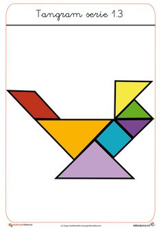 El tangram. Recursos para el aula Social Science Project, Science Projects, Toddler Busy Bags, Tangram, Shape Puzzles, Folder Games, Activity Sheets, Educational Games, Pattern Blocks