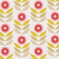 Retro flowers pattern design by trois miettes