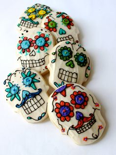 Dia de los Muertos - Day of the Dead- Sugar Cookies with buttercream frosting