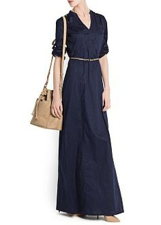 MANGO - CLOTHING - Dresses - Maxis - SHIRT COTTON LONG DRESS