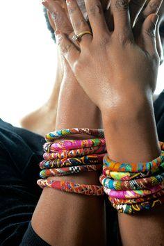 fabric covered bangle bracelets #fabricdiygifts