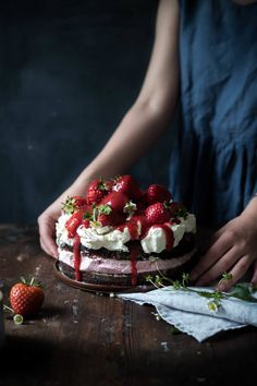 Gluten-Free Tarragon and Gin Sponge Cake with Rose Scented Strawberries + Fresh Whipped Cream – SUMAC