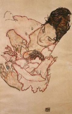 Egon Schiele (1890-1918, Austria)   Calming mother (Stephanie Grünwald)