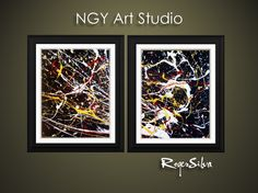 NGY 18 x 12  Original  Modern Abstract Fine Art by NGYartstudio, $35.00