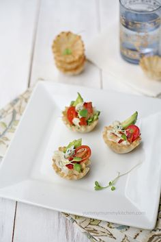 Yummy Mummy Kitchen: From the Fishermans Market to Crab Cobb Salad Cups Finger Food Appetizers, Finger Foods, Appetizer Recipes, Snack Recipes, Snacks, Yummy Mummy, Yummy Food, Great Recipes, Favorite Recipes