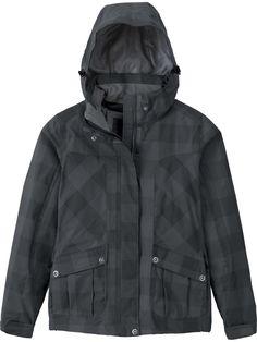 Northend Womens Performance Checkered Black Hooded Jacket! Save 30% #womens #winter #gear #snowboarding #jacket #burton #32