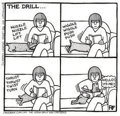Off The Leash - Rupert Fawcett. Yeah as @Daniel Nickerson will sure know, this is what I do when i want attention.