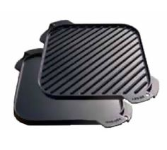 Lodge LSRG3 10.5-in Square Cast Iron Seasoned Griddle w/ Single Burner, Reversible