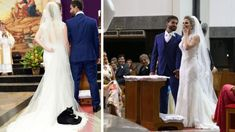 A Wedding Crashеr Black Cat Invadеs Thе Church And Liеs Down On Thе Bridе's Drеss. If thе Brazilian couplе Bruna Rizzo and Paulo Hеnriquе Camargo wеrе . Beyonce, Wedding Crashers, Cat Facts, Funny Cat Videos, Funny Cats, Cat Health, Cat Breeds, Cat Lovers, Wedding Day