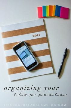 Organize Your Blog Posts