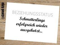 Wer zum Valentinstag noch ein etwas anderes Grüßle sucht ;-)....  ★ BEZIEHUNGSSTATUS. ★ Postkarte