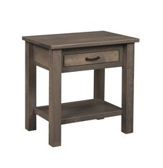 Quick Ship Amish Lindholt 1-Drawer Nightstand with Shelf Built to be beautiful and strong. This wood furniture for bedroom is made in Amish country. Contemporary design made in America. #nightstands