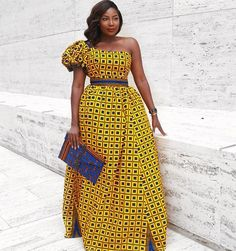 Women Dresses - Yellow African Print Dress/Off Shoulder Dress/African Print Dress/African Clothing/ African Dress/African Women's Clothing/African Fashion African Prom Dresses, African Dresses For Women, African Attire, African Wear, African Fashion Dresses, African Women, Nigerian Fashion, Ghanaian Fashion, African Style