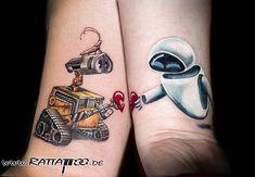 RATTATTOO - tattoofreiburg tattoostudiofreiburg freiburgtattoo - My best tattoo list Disney Couple Tattoos, Couple Tattoos Love, Trendy Tattoos, Unique Tattoos, Tattoo Studio, Walle Y Eva, Couple Tattoos Unique Meaningful, Partner Tattoos, Him And Her Tattoos