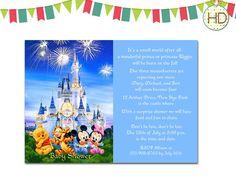 Disney Baby Shower Invitation Disney Castle Baby by HDInvitations