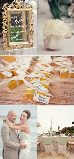 Tie escort cards to party favors so guests are sure to pick them up.
