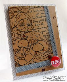 #Cre8time for Santa Noel like Tenia Nelson's card. #stampendous #artanthology