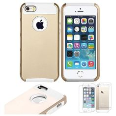 Gold+Matte+Case+for+iPhone+5/5S+    Features:  	1+X+Screen+Protector  	Color:+Golden/White  	Material:Polycarbonate+/Silicone/Gel/Rubber    Item+480  (FREE+SHIPPING!)