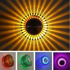 Nice Details zu RGB W LED Deckenleuchte Flurlampe Deckenlampe Sonne Lampe Leuchte Wandlampe DE