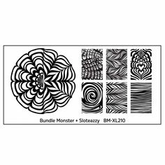 Blogger Collaboration Nail Art Polish Stamping Plates - BM-XL210, Sloteazzy