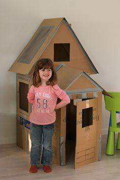 Casinha de papelão - DIY - Brincadeira - Criança