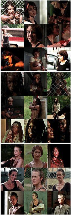 Maggie, Michonne & Carol  ~ Badass Women from The Walking Dead  #TWD