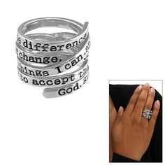 Serenity Prayer Wrap Ring at The Animal Rescue Site