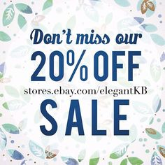 just started a store wide sale at #elegantkb #ebaystore now is your time to find a great deal. -----------------------  20% off ....and I'm excepting offers on many items already marked down! ------------------------  Making deals on beautiful one-of-a-kind jewelry art collectibles and....Christmas decor. I hope you find something amazing!