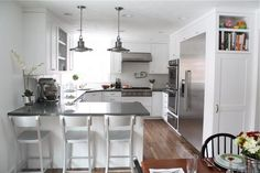 Simple Ideas Can Change Your Life: Affordable Kitchen Remodel Laundry Rooms kitchen remodel before and after mason jars.Kitchen Remodel Countertops Stones u shaped kitchen remodel dining rooms.U Shaped Kitchen Remodel On A Budget. Diy Kitchen Remodel, Kitchen Redo, New Kitchen, Narrow Kitchen, 1960s Kitchen, Kitchen Ideas, Kitchen Cabinets, Ranch Kitchen, Wall Cabinets