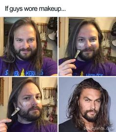 A collection hilarious Jason Momoa memes posted in the memes section on DailyWTFPics. Enjoy the funny memes. Funny Photo Captions, Funny Pictures With Captions, Funny Photos, Funny Images, Stupid Funny Memes, Funny Tweets, The Funny, Hilarious, Very Funny